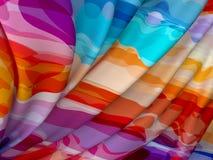 抽象纹理,颜色丝绸 图库摄影
