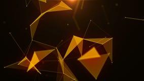抽象线、三角和小点的结节 技术 股票录像