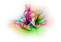 抽象线不同的颜色行动,曲线抽象col 免版税库存照片