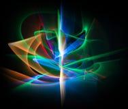 抽象线不同的颜色行动,曲线抽象col 免版税图库摄影
