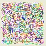 抽象线,艺术传染媒介例证 免版税库存图片