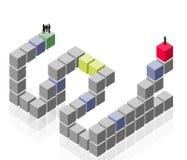 抽象组,小组工作,客户商业 免版税库存图片
