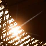 抽象结构上背景大厦详细资料天空 免版税库存照片