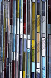 抽象结构五颜六色的门面玻璃 库存图片