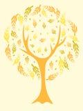 抽象结构树黄色 向量例证