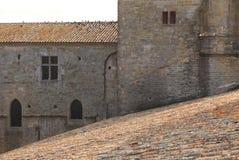 抽象结构carcassonne 免版税库存照片