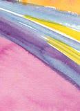 抽象绘画水彩 免版税库存照片