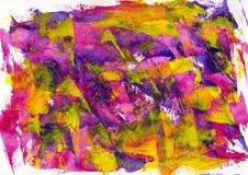 抽象绘画颜色纹理,丙烯酸酯的颜色背景,刀子 免版税库存照片