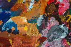 抽象绘画颜色纹理 现代未来派样式 免版税库存图片