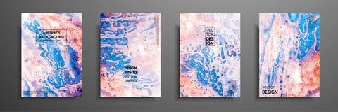 抽象绘画,可以使用作为时髦背景为墙纸,海报,卡片,邀请,网站 现代 免版税库存照片