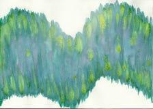 抽象绘画水彩 免版税库存图片