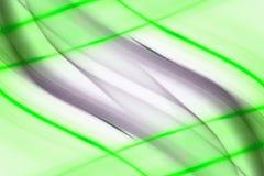 抽象绿线 库存例证
