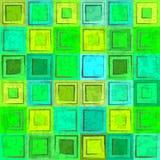 抽象绿色五颜六色的减速火箭的无缝的背景 库存照片