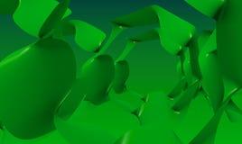 抽象绿色几何背景墙纸 免版税库存照片