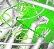 抽象绿色反映 向量例证