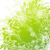 抽象绿色叶子bacground。 库存照片