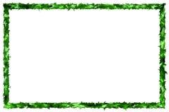 抽象绿色在空白背景的被弄脏的框架 库存照片