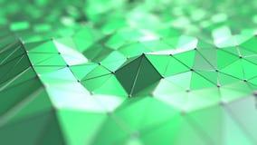 抽象绿色多角形 3d翻译 免版税库存照片