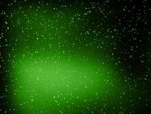 抽象绿色小点空间背景 向量例证