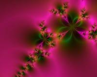 抽象绿色桃红色浪漫 库存图片