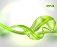 抽象绿色波浪背景 库存图片