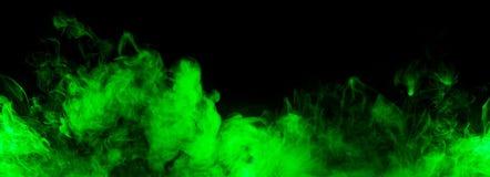 抽象绿色烟线 免版税库存照片