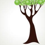 抽象绿色结构树背景 免版税图库摄影