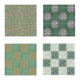 抽象绿色都市几何无缝的样式集合 正方形,条纹,线 现代难看的东西,纹理背景 图库摄影