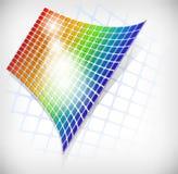 抽象网格彩虹 库存例证