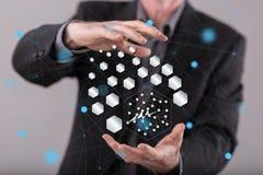 抽象网络的概念 免版税库存图片