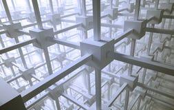 抽象网络 免版税库存图片