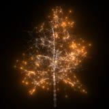 抽象网络 发光的结构树 免版税库存图片