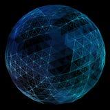 抽象网络地球 免版税库存图片