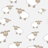 抽象羊羔无缝的样式背景传染媒介 库存照片