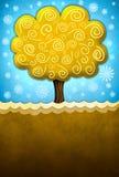 抽象美丽的例证结构树 免版税图库摄影