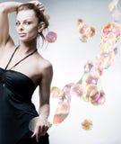 抽象美丽的工作室妇女年轻人 库存图片