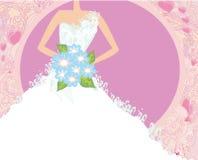 抽象美丽的新娘卡片 免版税库存图片