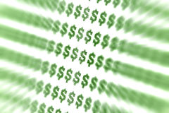 抽象美元的符号 免版税库存照片