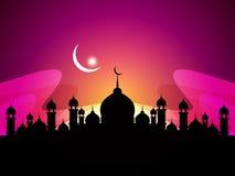 抽象美好的宗教eid背景 库存例证