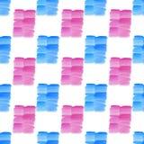 抽象美好的明亮的透明美好的织地不很细夏天蓝色和桃红色斑点弄脏样式 皇族释放例证