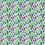 抽象美好的艺术性的嫩美妙的透明鲜绿色的蓝色紫色菱形不同的形状仿造水彩ha 向量例证