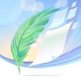 抽象羽毛艺术样式背景 免版税库存图片
