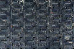 抽象老生锈的无缝的盖瓦。 免版税库存照片