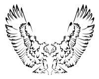 抽象老鹰纹身花刺 免版税库存照片