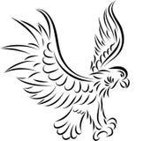 抽象老鹰,向量 免版税库存图片
