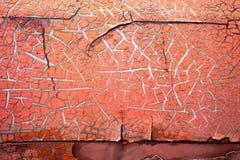 抽象肮脏的橙色颜色破裂的纹理 库存图片