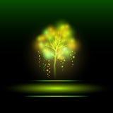 抽象背景。传染媒介例证eps 10.魔术树。 库存图片