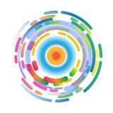 抽象背景三原色圆形图 图库摄影