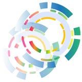 抽象背景三原色圆形图 库存照片