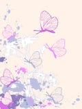 抽象背景上色了花卉 向量例证